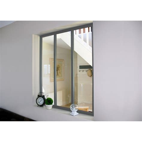 verri 232 re atelier en kit aluminium gris vitrage non fourni h 1 08 x l 0 93 m leroy merlin
