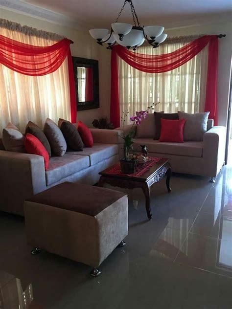red  beige living room la maison la casa pinterest