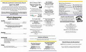 Best photos of free printable church bulletins free for Sample church bulletins templates