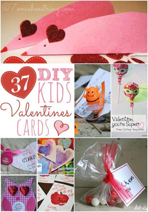 40+ handmade valentine cards for kids to make: 37 DIY Kid's Valentine's Day Cards for Your Kids and Their ...