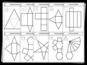 shape nets   printable net templates maths