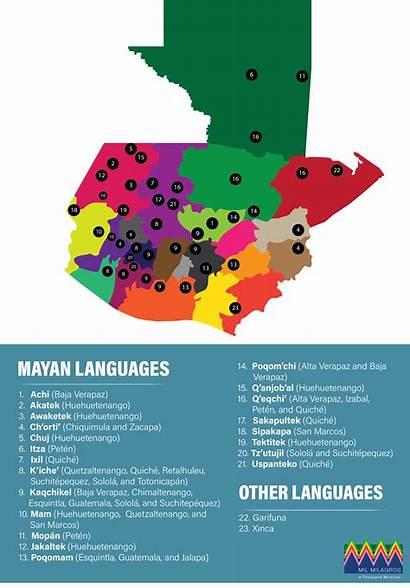 Guatemala Languages Indigenous Spoken Map Iche Santa