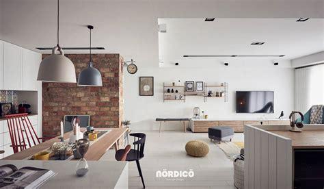 Brick Accent Wall In Nordic Interior