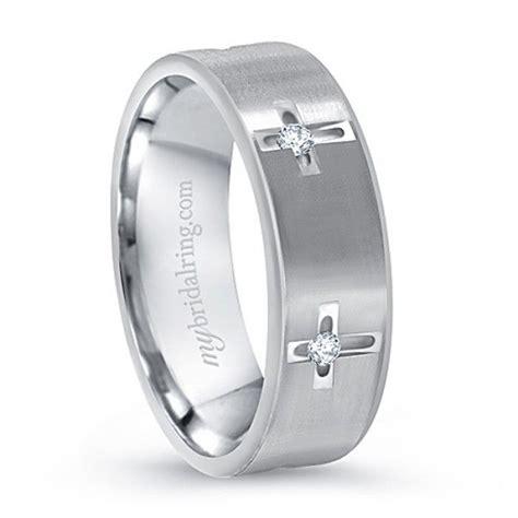 multi stone white gold cross christian wedding ring mens