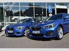 BMW 1erVergleich F20 und F20 LCI mit M Paket in Estorilblau