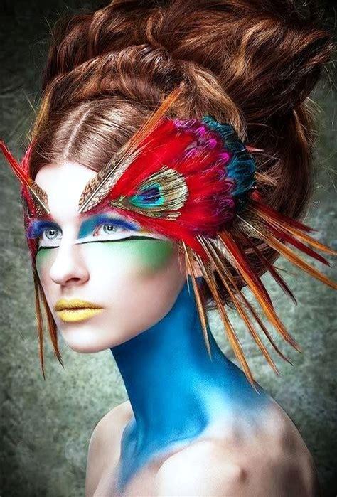 pretty peacock halloween makeup ideas