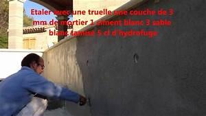 Comment Lisser Un Mur : comment enduire une piscine ma onnerie martinez youtube ~ Dailycaller-alerts.com Idées de Décoration
