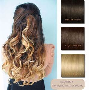 Brown Ombre | 20inches Medium Brown ombre light auburn and ...