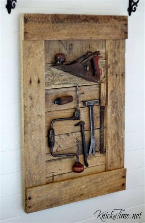 tools keepsake display keepsakes rustic   tools