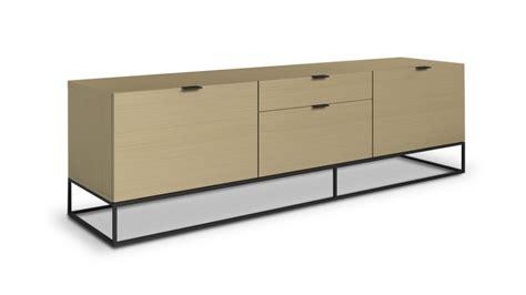 meuble tv kufstein bois avec pi 232 tement en m 233 tal noir