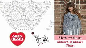 How To Read  Sidewalk Shawl Crochet Chart