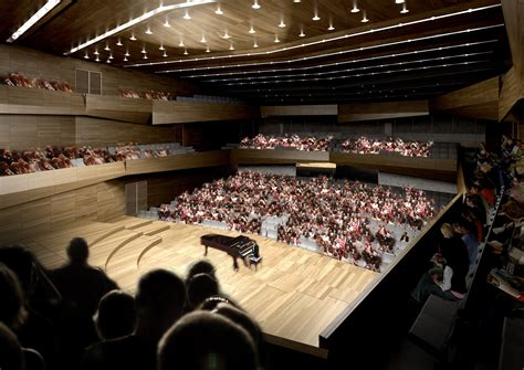 Gallery of Jahn Proposes Concert Hall with Musically ...