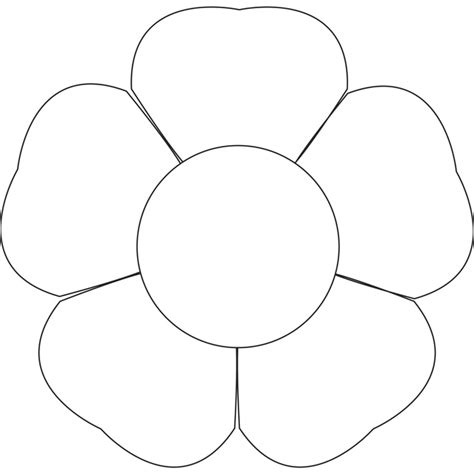 printable flower template cut out flower template for to color kiddo shelter