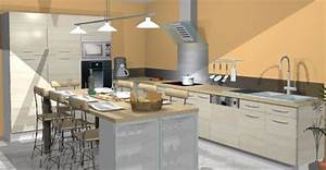 beautiful idee agencement cuisine photos seiunkelus With idee amenagement de cuisine