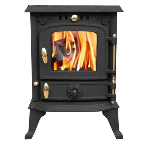 Harmston 55kw Multifuel Cast Iron Log Burner Wood Burning Stove Fireplace New 7484320263612 Ebay