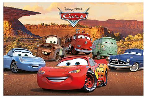 Disney Pixar Cars Characters Film Poster New
