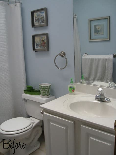 Blah To Beautiful Bathroom Makeover On A Budget Home