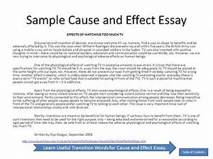 Apa Format Sample Essay Paper Cause And Effect Essays Pdf Essay Paper Writing also Synthesis Essay Tips Cause And Effect Essays Business Management Dissertation Ideas Cause  Personal Essay Examples High School
