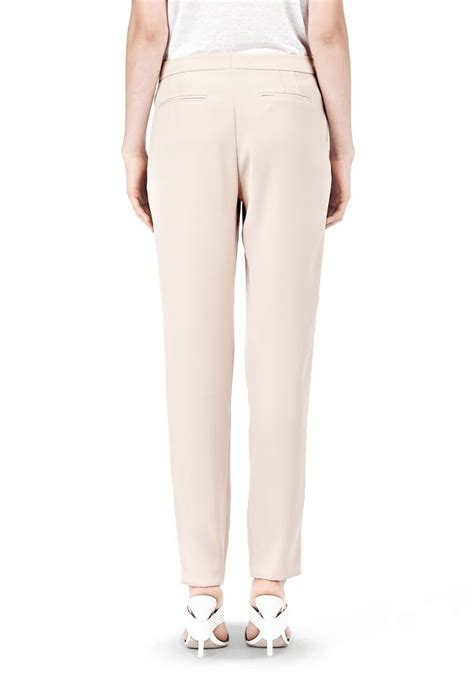 drape trousers wang drape suiting tappered trousers