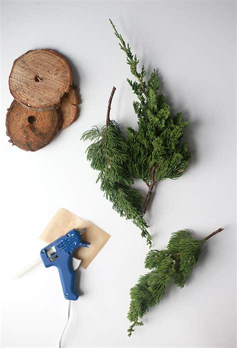 diy fresh mini christmas trees from tree lot scraps