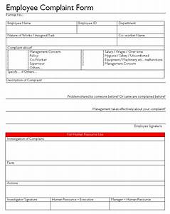 employee complaint form With hr complaint form template