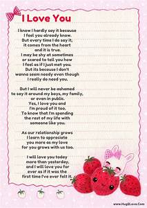 Short sweet i love you poems for your girlfriend