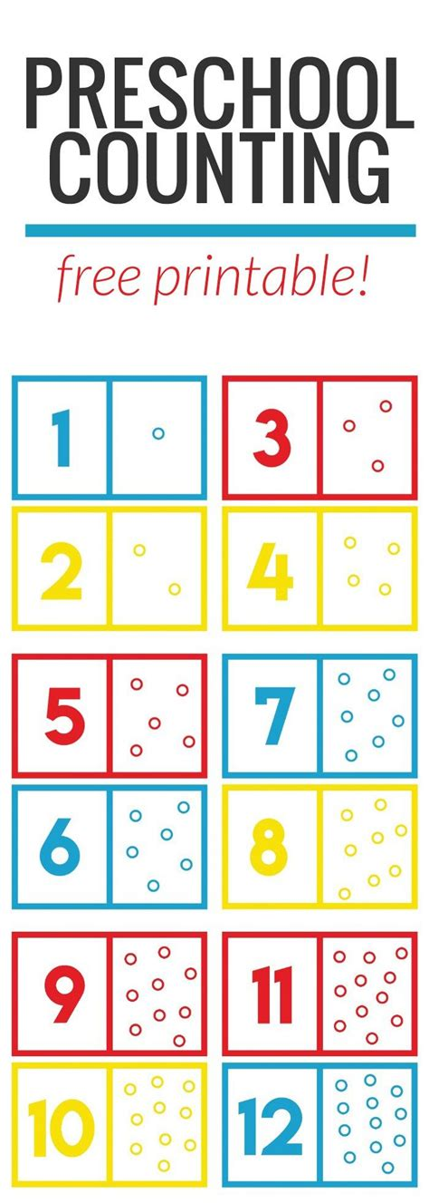 preschool math counting free printable meg o on 718 | 05f95c707619377d34976d5a607f7796 kids count free preschool