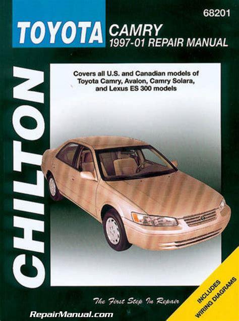 car owners manuals free downloads 1997 toyota camry engine control chilton toyota camry avalon solara lexus es 300 1997 2001 auto repair manual