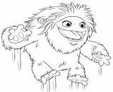 Yeti Coloring Abominable Pages Jumping Printable sketch template