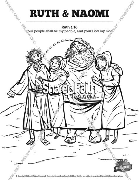 Kleurplaat Ruth by Ruth And Sunday School Coloring Pages Sunday