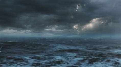 Boat Safety During Thunderstorm by Thunderstorm At Sea Sounds For Sleeping Relaxing