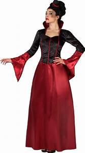 Halloween Rotes Und Schwarzes Vampir Kostm Fr Damen