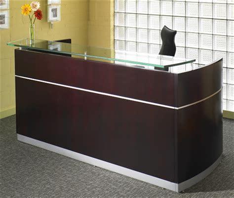 used reception desk new used reception desks nc