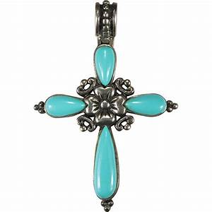 Natural Turquoise Pansy Pendant 925 Sterling Silver Cross SOLD on Ruby Lane