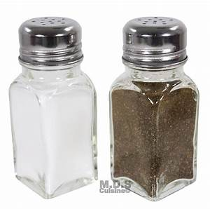 Salt, And, Pepper, Shaker, Set, Of, 2, Stainless, Steel, And, Clear, Glass, Classi, U2013, Kitchen, U0026, Restaurant