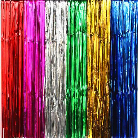 foil fringe curtain dollar tree tassel curtain offer all kinds of balloons the best