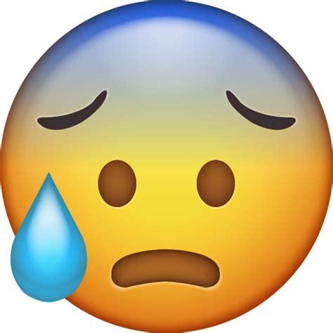 cold sweat emoji   ios emojis emoji island