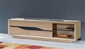 Grand Meuble Tv : s jour c ram grand meuble tv 2 portes coulissantes 1 niche largeur 180 cm hauteur 48 ~ Teatrodelosmanantiales.com Idées de Décoration