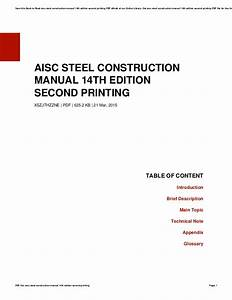 Aisc 14th Edition Pdf Download  U0026gt  Donkeytime Org
