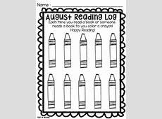 Reading Log for Preschool, PreK, and Kindergarten by