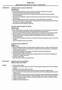 clinical trials assistant resume samples velvet jobs With clinical trial research assistant