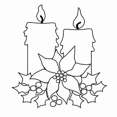 Candle Coloring Christmas Pages Tree Drawing Blank