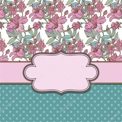 marco flores vintage Vector de stock © sntpzh #27915593