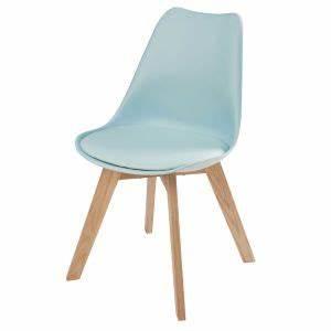 Chaise Chene Clair : chaise style scandinave bleu clair et ch ne maisons du monde ~ Teatrodelosmanantiales.com Idées de Décoration