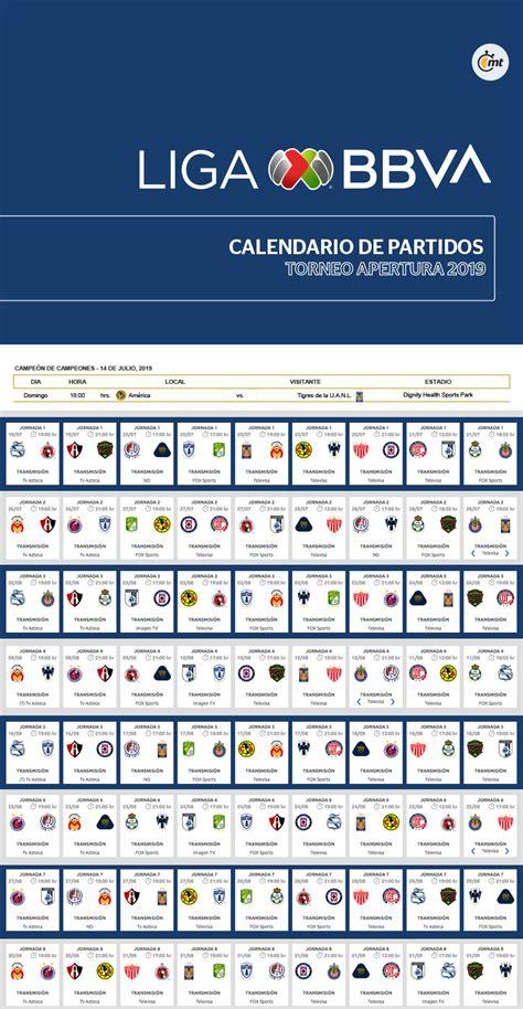calendario apertura liga mx fechas horario del
