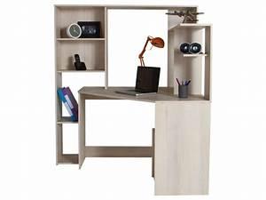 Petit Bureau Angle : bureau d 39 angle groove coloris acacia vente de bureau conforama ~ Teatrodelosmanantiales.com Idées de Décoration