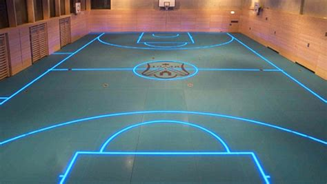 led boosted gym floor  asb systembau stylus