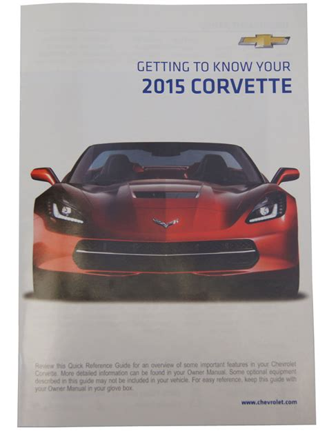 chevrolet corvette   owners manual wleather