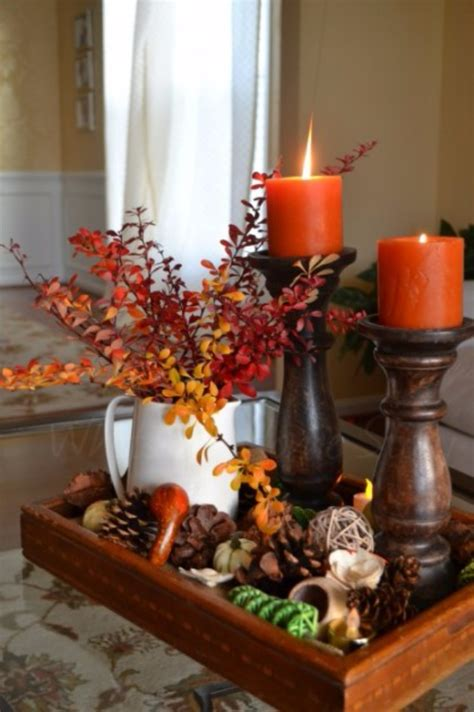 diy thanksgiving centerpieces  decorate  table
