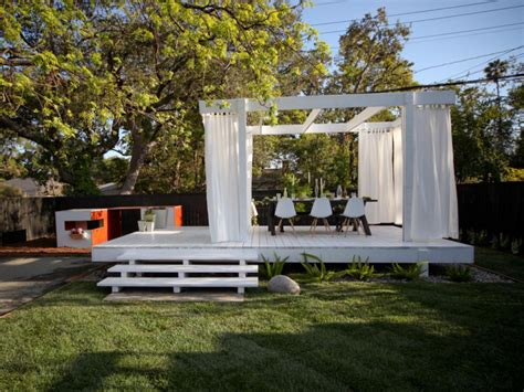 40 id 233 es de pergola avec rideaux moderne dans le jardin